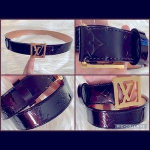 FINAL⬇️EUC🤩💯Louis Vuitton Vernis Monogram Belt